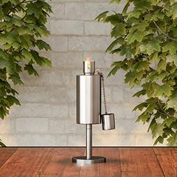 """Pure Garden 50-221 Tabletop Torch Lamp-10.5"""" Stainless Ste"""
