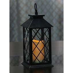 "13"" Tall Decorative Lantern containing a flameless LED Pilla"