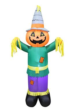 6 Foot Tall Happy Thanksgiving Hallween Inflatable Pumpkin S