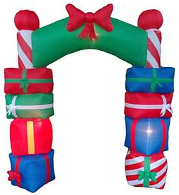 8 Foot Tall Lighted Christmas Inflatable Stacked Colorful Gi