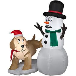 4 ft Tall Snowman and Dog with LED lights Christmas Inflatab