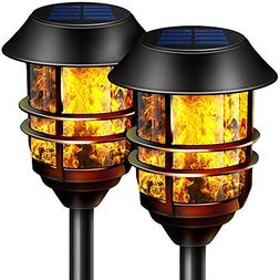 "Camabel 55"" Tall Solar Torches Lights with Flicking Flame 10"