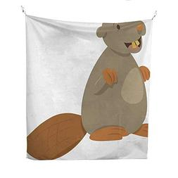 tapestries wall hangings cartoon beaver