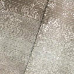 Taupe Brown/Ivory Dot Baroque Chenille Jacquard Decor Fabric