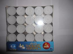 Tealight Candles Unscented White 100 Pack