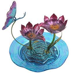 Teamson Peaktop Indoor Butterfly Glass Tabletop Water Founta