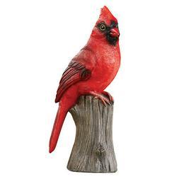 Textured Resin Cardinal Yard Figurine - Decorative Yard Acce