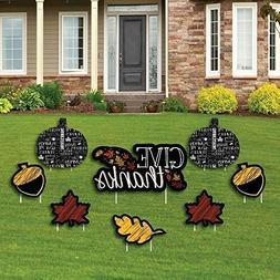 Thanksgiving Yard Sign Decor Fall Autumn Pumpkin Leaves Leaf
