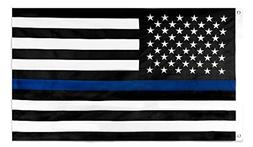 Thin Blue Line Flag by SoCal Flags® 3x5 Foot Polyester Hono