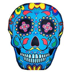 Thin Polyestry Gigantic Cute Sugar Skull Tapestry Beach Thro