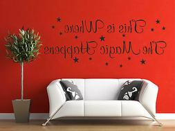 This Is Where The Magic Happens Bedroom Wall Quote Home Deco