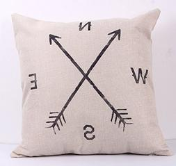 NEW BARLEY Letter Design Throw Pillow Cover Pillow Case 18 x