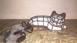 Tiffany Style Sleeping Cat Glass Lamp