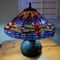 Tiffany Style Stained Glass Reading Accent Table Lamp Dragon