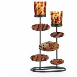 Tiger Animal Print Centerpiece Candleholder Stand Decor Home