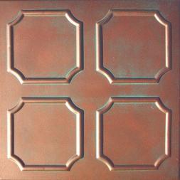 Ceiling Tile - Faux Like Tin - Alfa Antique Copper Patina 20