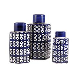Traditional Décor Collection Cupola Set of 3 Jars