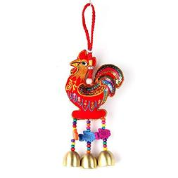 Tranditional Handworks Rooster Wind Chimes Ornaments with Co