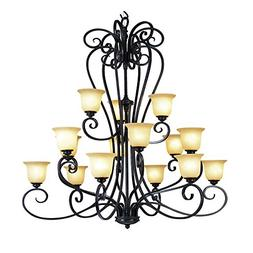 Transglobe Lighting 70298 Chandelier with Beige Glass Shades