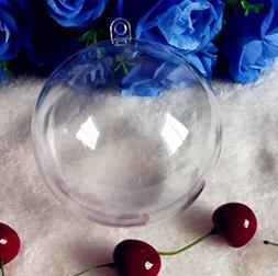 KEIVA Transparent Clear Plastic Acrylic Fill-Able Snap-On Ba