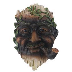 Tree Face, Hand-painted Outdoor Old Man Tree Hugger Sculptur