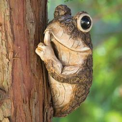 Tree Frog Sculpture Garden Decor Yard Home Hugger Outdoor Du