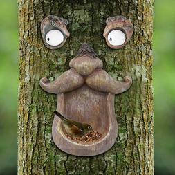 Tree Hugger Garden Old Man Face Bird Feeder Outdoor Sculptur
