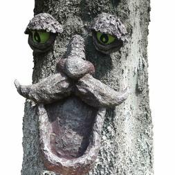 Tree Hugger Old Man Face Garden Outdoor Bird Feeder Sculptur