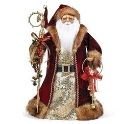 CHRISTMAS TREE TOPPERS - SANTA WITH BELLS CHRISTMAS TREE TOP