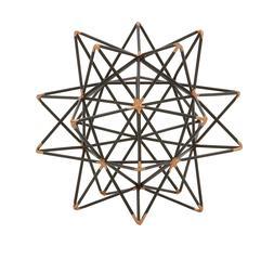 Trendy Metal Wire Star Decor