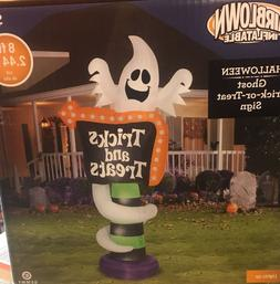 NEW 8' GEMMY GHOST SIGN Halloween Airblown Inflatable Yard D
