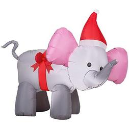 Trim A Home 4' Airblown Elephant with Bow Christmas Inflatab