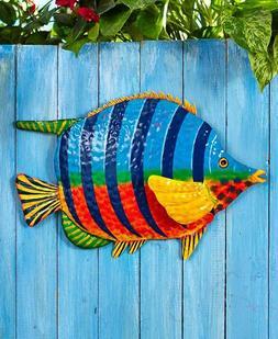 TROPICAL FISH WALL HANGING WALL ART - OUTDOOR GARDEN YARD DE