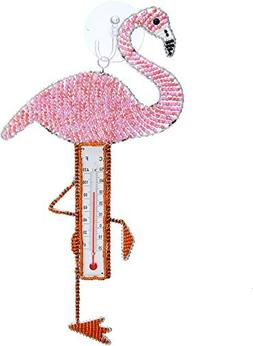Grassroots Beadworks Tropical Pink Flamingo 12 Inch Beaded W