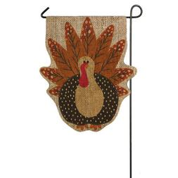 Evergreen Flag & Garden Turkey Time Garden Flag