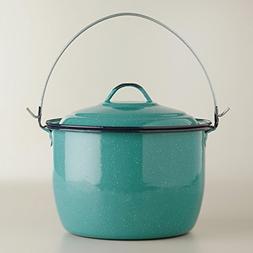 Turquoise Medium Nonstick Enamel Cooking Stockpot With Lid C