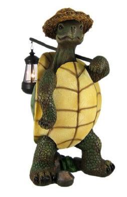 Turtle with Solar Light/Lantern, Solar Turtle Statue/Figurin