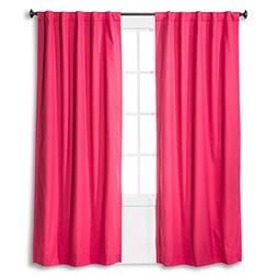 Pillowfort Twill Light Blocking Curtain Panel - Pink - 42x84