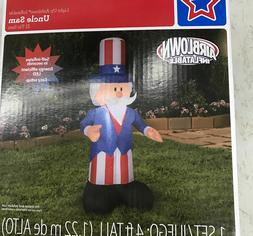 Uncle Sam 4ft Airblown Inflatable Patriotic 4th of July Memo