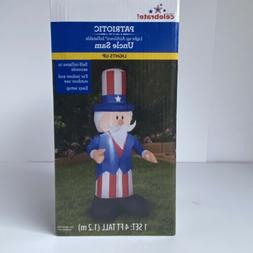 Uncle Sam 4ft Airblown Inflatable Patriotic Yard Decor 4th O