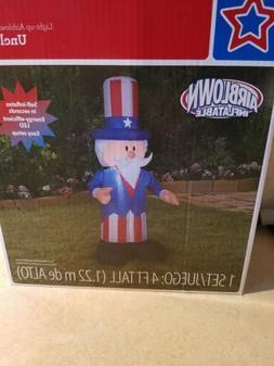 Uncle Sam 4ft Airblown Inflatable Patriotic Yard Decor Memor