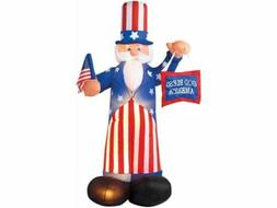 Uncle Sam Inflatable Yard Decor July 4TH State USA Red White