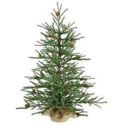 Vickerman Unlit Carmel Pine Artificial Christmas Tree with P