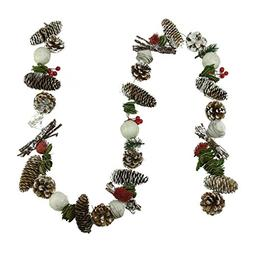Northlight Unlit Frosted Pine Cone Natural Twig Berry and Wo