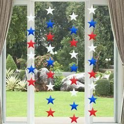 USA Star String Decorations 4m 4th of July American Patrioti