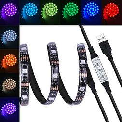 USB LED Light Strip, Costech 5050 RGB LED Light 20 Color Sel