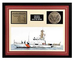 USCGC Heron WPB-87344 Framed Coast Guard Ship Display Burgun