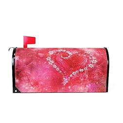 Valentine Day Heart Flower Magnetic Mailbox Cover MailWraps,