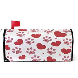 Wamika Valentine's Day Hearts and Dog Paw Print Magnetic Mai