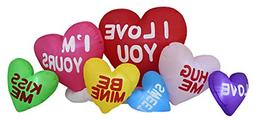 Valentine's Day Inflatable Colorful Hearts with Love Message